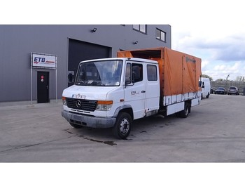 Tentinis mikroautobusas Mercedes-Benz Vario 814 D (FULL STEEL SUSPENSION / BELGIAN TRUCK IN GOOD CONDITION)