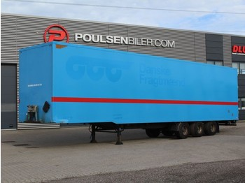 Furgonas puspriekabė Pacton 3-axle boxtrailer with double-stock