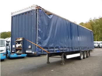 Tentinis puspriekabė Krone Curtain side trailer double stock 97 m3