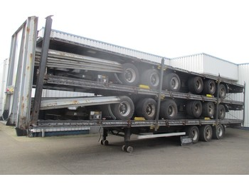 LAG Stack of 5 Mega Trailers , 3 BPW Axle , 2 driving positions , Drum Brakes , Air Suspension - važiuoklės puspriekabė